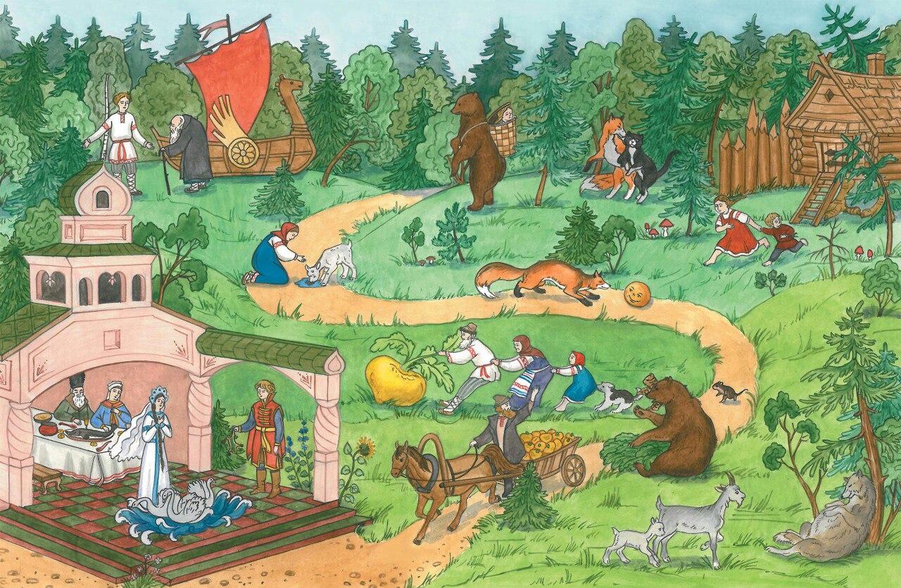 Анимация старым, картинка сказки